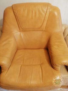 Fotel po renowacji skóry