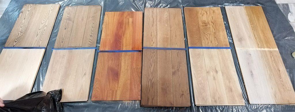 przykłady powłok wykończeniowych drewna